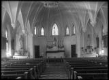 Interior of an unidentified church, Harpers Ferry, West Virginia, undated (ca. 1890-1910).