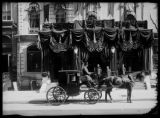The Albemarle Hotel draped in black for the death of President McKinley, September 15, 1901.