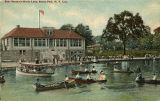 Boat House on Bronx Lake, Bronx Park, N.Y. City