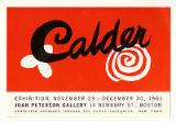 Calder EXHIBITION NOVEMBER 29 - DECEMBER 30, 1961