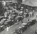 Railroad Commuters at L.I.R.R. Station, Port Washington, ca. 1937