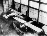 Aviation; Lindbergh plane in Le Bouget hangar