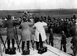 Aviation; Lindbergh arriving in Brussels