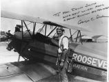 Aviation, Roosevelt Field, George C. Dade with airplane
