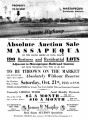Absolute Auction Sale Massapequa (Saturday, October 21st, 1933)