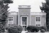 [Front Entrance of Alumni Gymnasium at Webb Institute of Naval Architecture.]