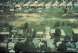 Aerial view of the Love Canal neighborhood between 97th and 99th Streets before the 99th Street...