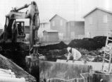 Remedial construction work at Love Canal begins under the auspices of the New York State Dept. of...