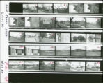 Contact sheet for various Love Canal photographs of abandoned homes and neighborhood