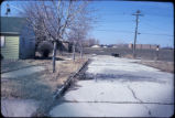 Empty street of abandoned Love Canal neighborhood