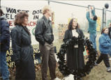 Patricia A. Brown, Ed Begley, Jr. and Lois Gibbs at the rally against resettlement of  the Love...