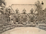 E.B. Green's Robert Donner House: 1995 Junior League Decorators' Show House (drawing).