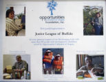 Certificate of appreciation presented to the Junior League of Buffalo by Opportunities Unlimited...