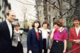 Erie County Executive Dennis Gorski with Junior League organizers of the 1989 Decorators' Show...
