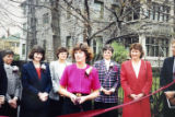 Show House chairman Gayle Barton surrounded by Junior League members and supporters of the 1989...