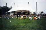 Concert goers on the lawn enjoy a performance at the Waterfront Performing Arts Concert Series.