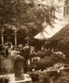 Garden party held on the Twentieth Century Club clubhouse patio