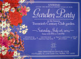 Invitation to a garden party at the TCC clubhouse.