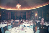 TCC staff put finishing touches on setting the grand ballroom for the Twentieth Century Club of...
