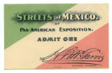 Pan-American Exposition Streets of Mexico ticket