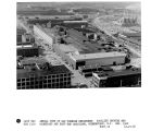 Aerial view of Gas Turbine Department. Facility showing new courtyard and east end additions,...