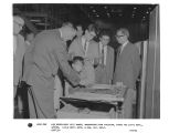 His Excellency Aziz Ahmed, ambassador from Pakistan, tours the LST-G Department, 9/2/60.