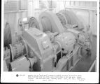 "General view of """"spud drive"""" powered by General Electric 150 hp drive motor...."
