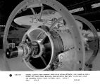 General Electric 9KVA constant speed drive serial #5704532, positioned on Curtis Wright jet engine...