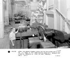Overall view showing 4 General Electric 25 hp DC drive motors used on washers. J.H. Cowman, chief...
