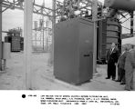 Left oblique view of General Electric outdoor distribution unit. J.M. Roberts, sales engineer;...