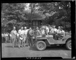 1st tee at beginning of the 1947 Mohawk Golf Club Invitation Tournament.