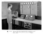 Additional control panel for monitoring electric system during functional tests.  At Aircraft...