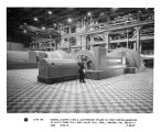 General Electric high and low-pressure 217,000 KW steam turbine-generator at Clifty Creek Station,...