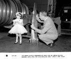 1957 General Electric shareowners and guests tour the Turbine Building; Wednesday, April 24th,...