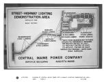 Diagram of Central Maine Power Co.'s highway lighting demonstration area.