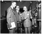 Prof. William Allis, of Massachusetts Institute of Technology, and Prof. David Gabor of imperial...