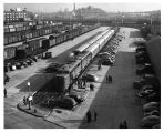 "View of the dedication of """"Apparatus Train"""" in the Eckington Street Yards in..."