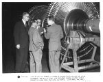 Visit of Dr. H.J. Bhabha, in charge of nuclear activities for the Indian government, and Dr. L.R....