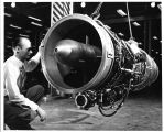 This is the General Electric Company's latest turbojet engine, the same size as the company's...
