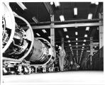 At Lockland, Ronald Wheeler inspects jet engine production lines
