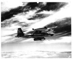 Copy of flight picture of B-45 flying test bed