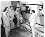 Members of Armed Force medical policy council inspect the 70 million volt synchrotron
