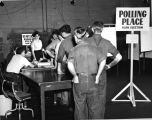 General Electric Company workers voting in NLRB election to decide whether UE or IUE would...