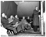 C.E. Wilson, president of the General Electric Company, delivers the dedication address at the...