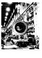 401,000 pound stator rests on special flat car in GE turbine shop, prior to start of delivery of...