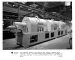 Triple-armature integrally ventilated D-C motor completely assembled except for blower housings. Each armature rated 1000 hp, 350/840 rpm. Customer: U.S. Steel Corp., Gary Sheet & Tin Mill, 5-stand tandem cold mill. requisition 323-66137