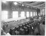 General Electric Company exhibit in the Electricity Building with transformer plant in the...