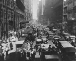 Congested Street in Chicago, 1929
