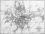 Schenectady city map, printed by Robson & Adee, publishers and drawn by E.S. Cullings of the...