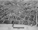 Birds-eye view of Schenectady, 1875